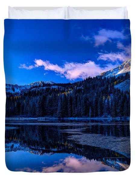 Silver Lake Duvet Cover by Dustin  LeFevre