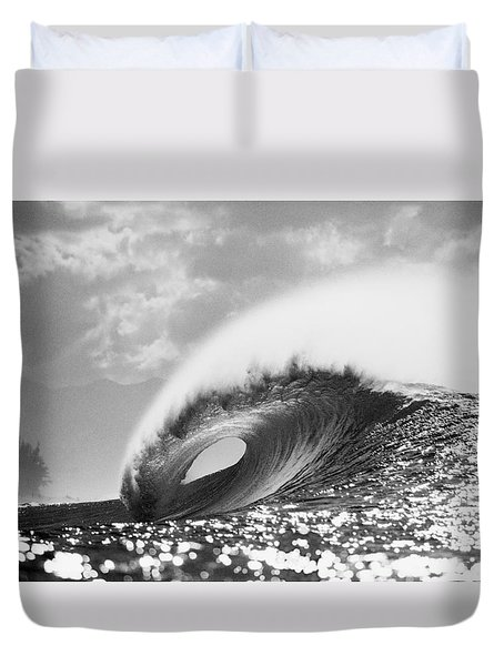 Silver Peak Duvet Cover by Sean Davey
