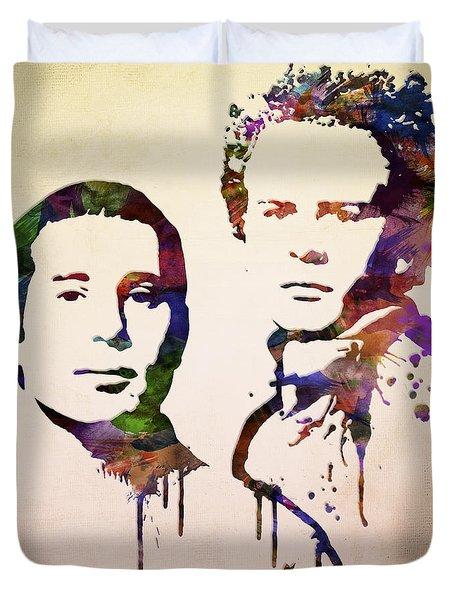 Simon And Garfunkel Duvet Cover by Aged Pixel