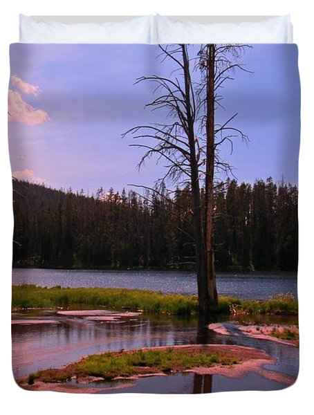 Simple Beauty of Yellowstone Duvet Cover by John Malone