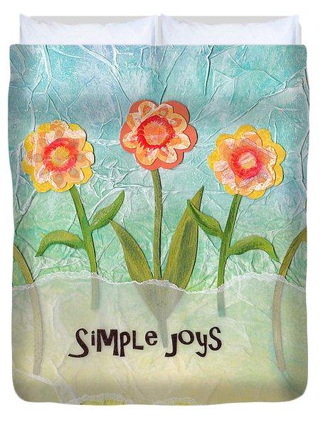 Simple Joys Duvet Cover by Carla Parris