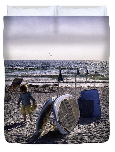 Simpler Times 1 - Miami Beach - Florida Duvet Cover by Madeline Ellis
