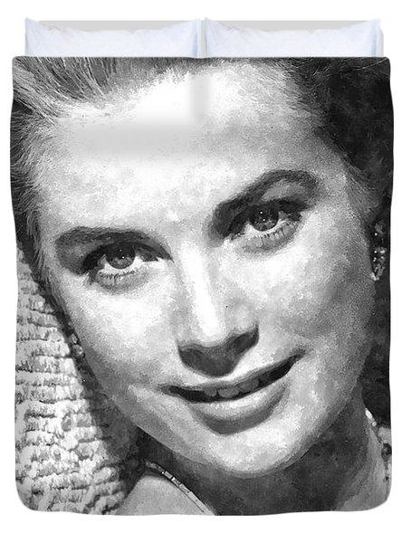 Simply Stunning Grace Kelly Duvet Cover by Florian Rodarte