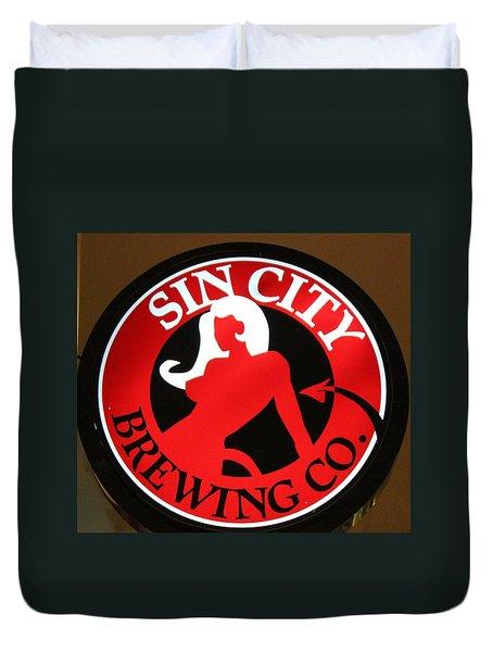 Sin City Brewing  Duvet Cover by Cynthia Guinn