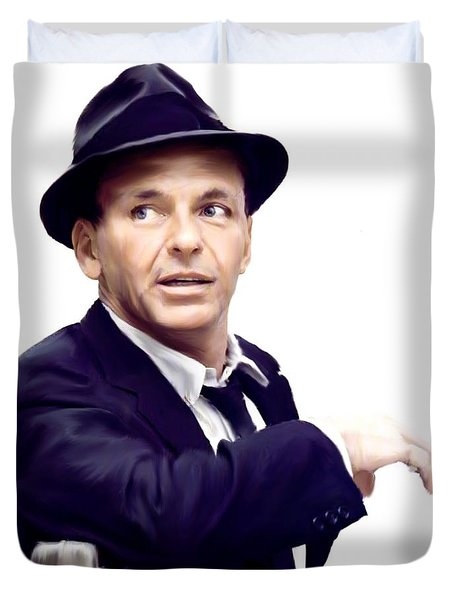 Sinatra.  Frank Sinatra Duvet Cover by Iconic Images Art Gallery David Pucciarelli