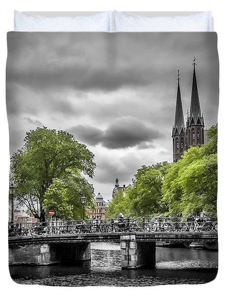 Singel Amsterdam Duvet Cover by Melanie Viola
