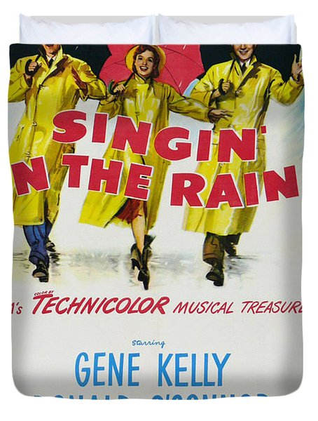 Singin In The Rain Duvet Cover by Nomad Art And  Design
