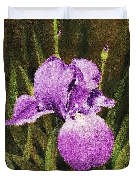 Single Iris Duvet Cover by Anastasiya Malakhova