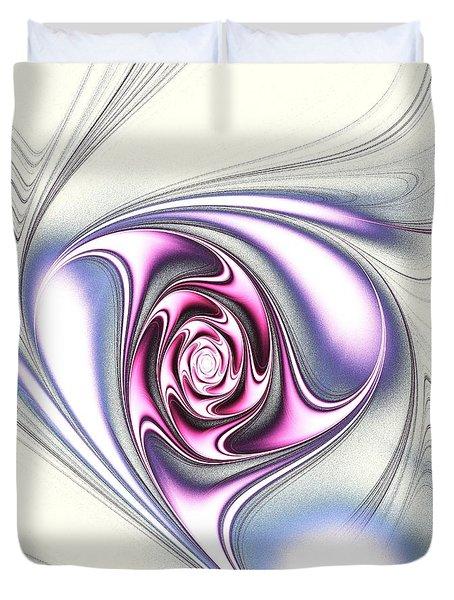Single Rose Duvet Cover by Anastasiya Malakhova