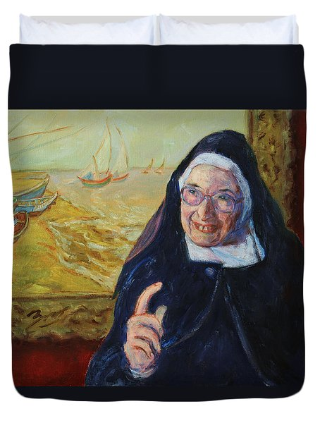 Sister Wendy Duvet Cover by Xueling Zou