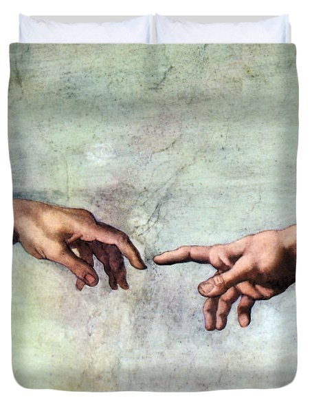 Sistine Chapel Duvet Cover by SPL and Photo Researchers