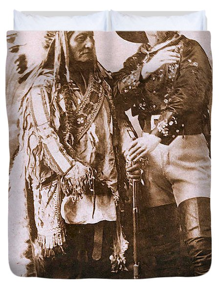 Sitting Bull and Buffalo Bill Duvet Cover by Unknown