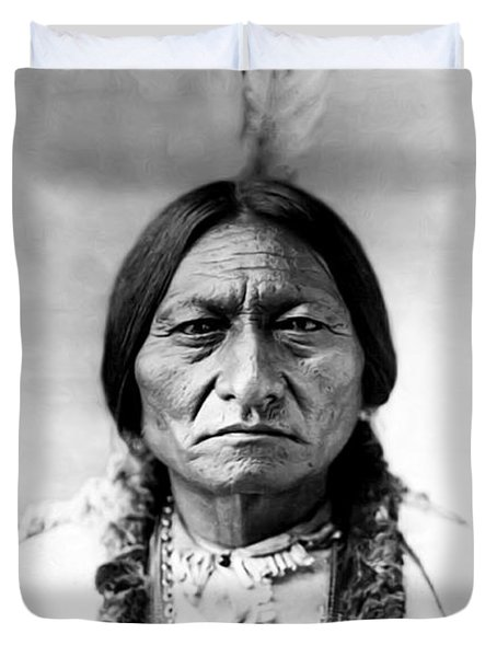 Sitting Bull Duvet Cover by Bill Cannon