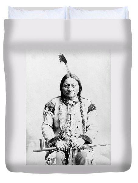 Sitting Bull Duvet Cover by War Is Hell Store