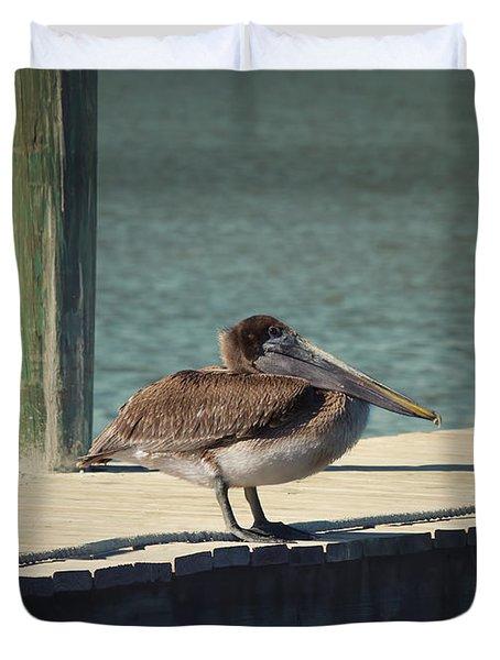Sitting On The Dock Of The Bay Duvet Cover by Kim Hojnacki
