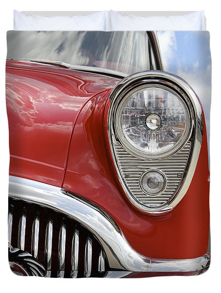 Sitting Pretty - Buick Duvet Cover by Mike McGlothlen