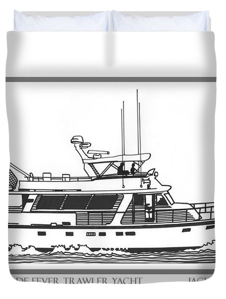 Sixtyfive Foot Defever Trawler Yacht Duvet Cover by Jack Pumphrey
