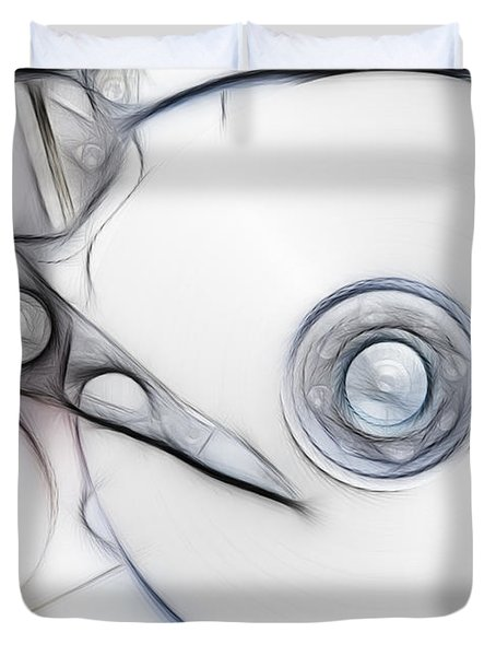 sketch of the hard disc Duvet Cover by Michal Boubin