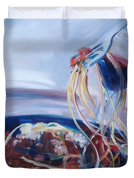 Sketti Duvet Cover by Donna Tuten