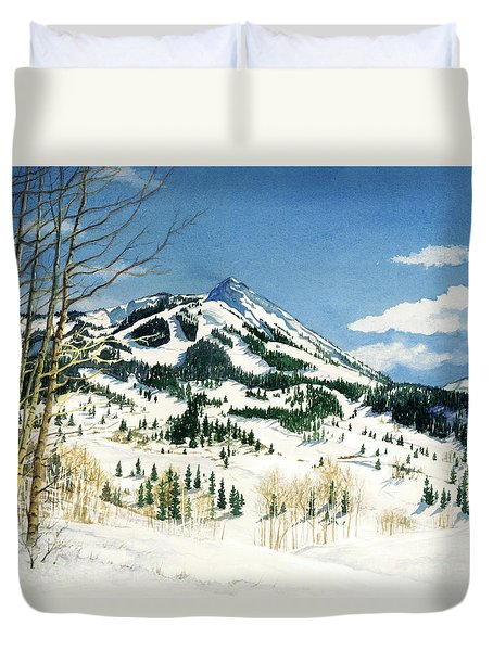 Skiers Paradise Duvet Cover by Barbara Jewell
