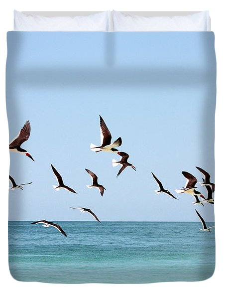 Skimmers And Swimmers Duvet Cover by Carol Groenen