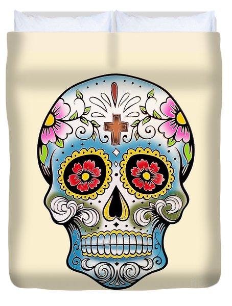 Skull 10 Duvet Cover by Mark Ashkenazi