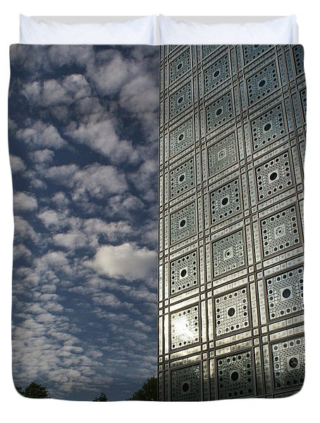 Sky And Building Duvet Cover by Gary Eason