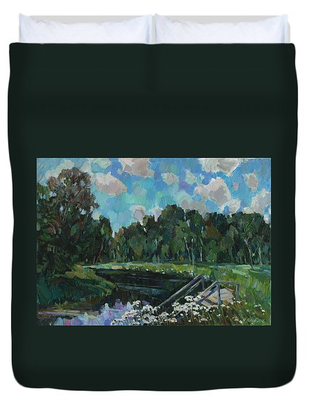 Sky In The River Duvet Cover by Juliya Zhukova