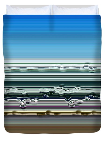 Sky Water Earth Duvet Cover by Michelle Calkins