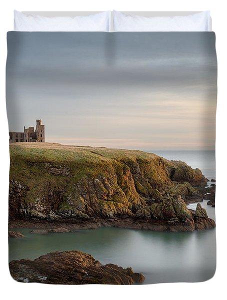 Slains Castle Sunrise Duvet Cover by Dave Bowman