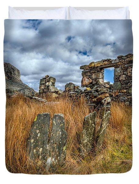 Slate Mine Ruins Duvet Cover by Adrian Evans