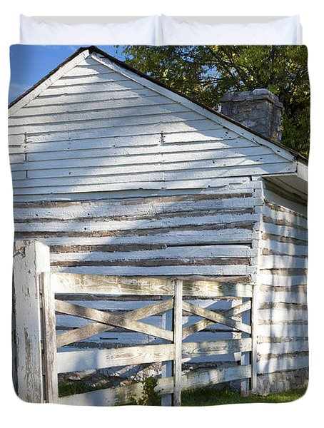 Slave Huts On Southern Farm Duvet Cover by Brian Jannsen