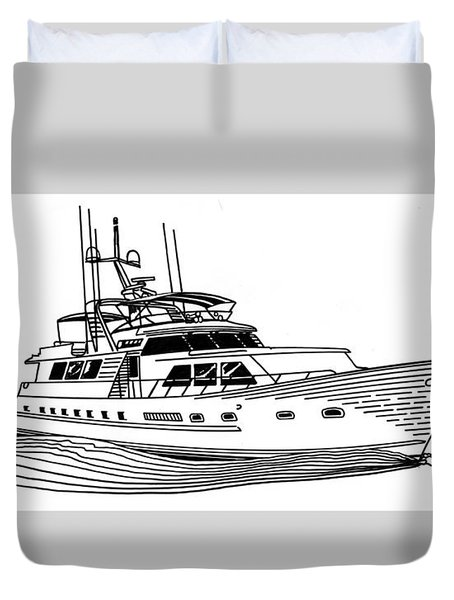 Sleek Motoryacht Duvet Cover by Jack Pumphrey