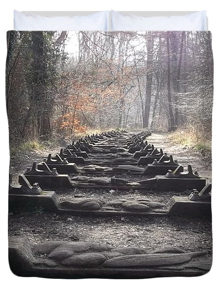 Sleepers In The Woods Duvet Cover by John Williams