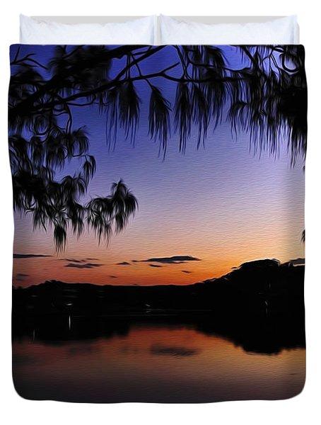 Sleeping Sun Duvet Cover by Kaye Menner