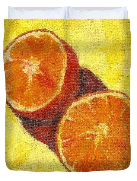 Sliced Grapefruit Duvet Cover by Marlene Lee