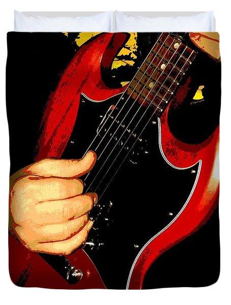 Slide Guitar Duvet Cover by Chris Berry