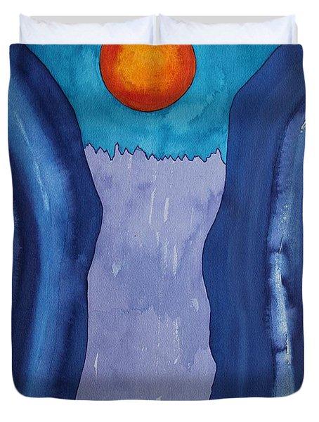 Slot Retablo Original Painting Duvet Cover by Sol Luckman