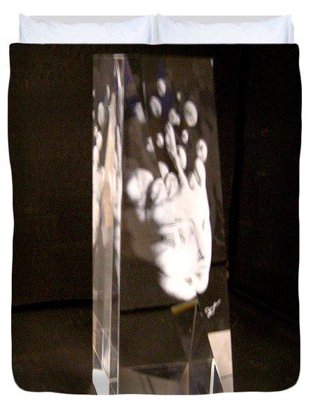 Slow Boil Crystal Sculpture 6 Duvet Cover by Dia T