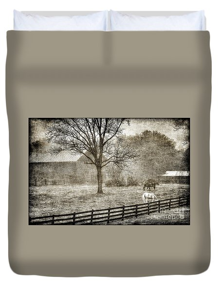 Small Farm In West Virginia Duvet Cover by Dan Friend