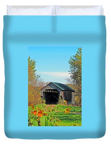 Small Private Country Bridge Duvet Cover by Barbara McDevitt