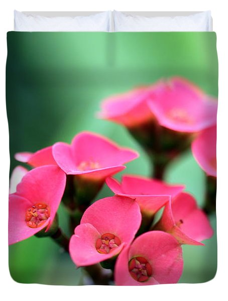 Small Red Flower Duvet Cover by Henrik Lehnerer