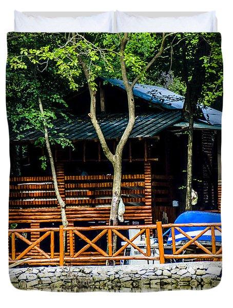 Small Wooden House Duvet Cover by Sotiris Filippou