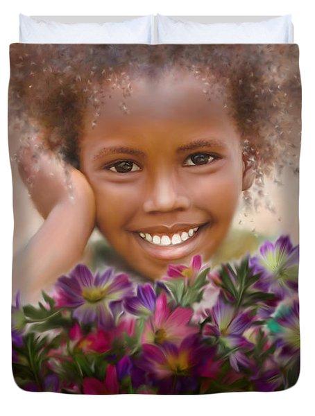 Smile 2 Duvet Cover by Kume Bryant