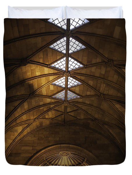 Smithsonian Castle Vaulted Ceiling Duvet Cover by Lynn Palmer