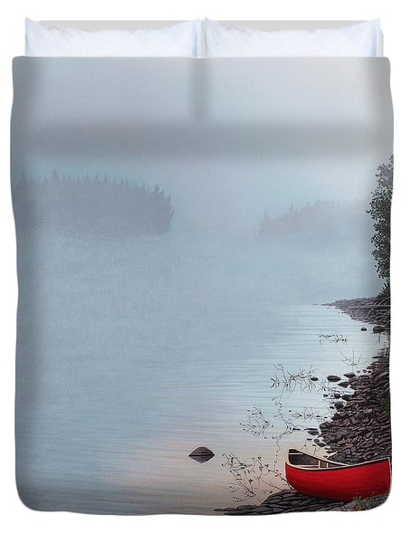 Smoke On The Water Duvet Cover by Kenneth M  Kirsch