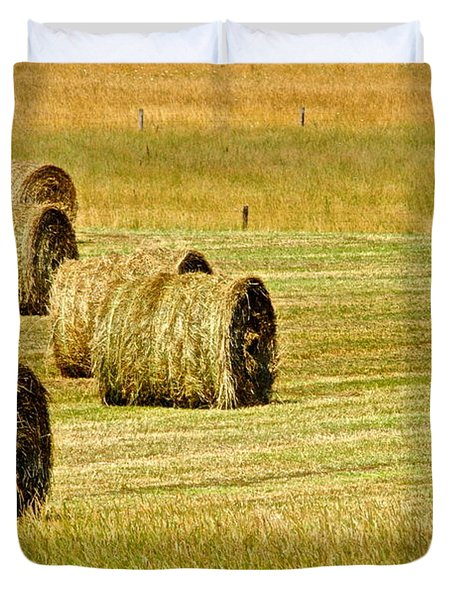 Smoky Mountain Hay Duvet Cover by Frozen in Time Fine Art Photography