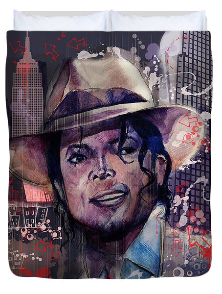 Smooth Criminal Duvet Cover by Bekim Art