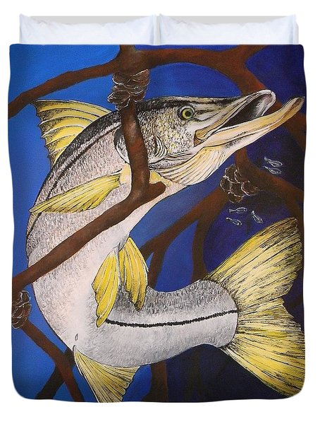 Snook Painting Duvet Cover by Lisa Bentley