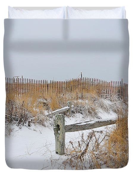 Snow And Sand Duvet Cover by Catherine Reusch  Daley